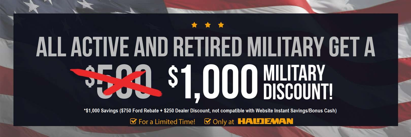 ford military rebate 1000 bonus cash. Cars Review. Best American Auto & Cars Review